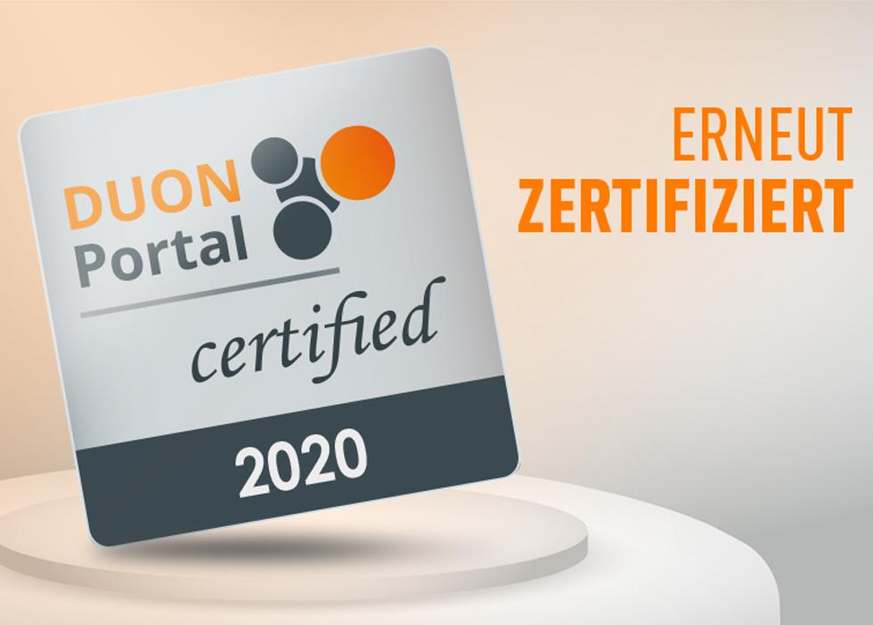 """News Duon Portal """"Erneut zertifiziert!"""""""